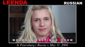 Access Leenda casting in streaming. A Russian girl, Leenda will have sex with Pierre Woodman.