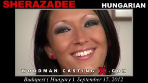 Download Sherazadee casting video files. A Hungarian girl, Sherazadee will have sex with Pierre Woodman.