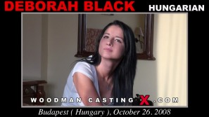 Watch Deborah Black first XXX video. Pierre Woodman undress Deborah Black, a Hungarian girl.